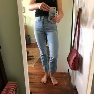 Point Sur high-waisted cropped jeans, size 25